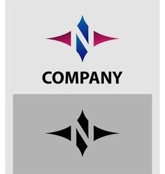 Alphabet icon N logo vector