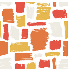 artistic seamless pattern with red orange yellow vector image