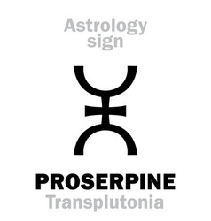Astrology supreme planet proserpine vector