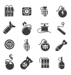 Bomb and explosives icons vector image