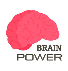 brain power logo flat style vector image