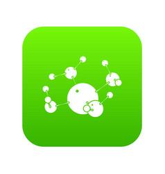 butane icon green vector image