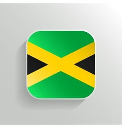 Button - jamaica flag icon vector