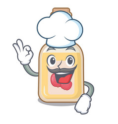 chef apple cider isolated with mascot vector image