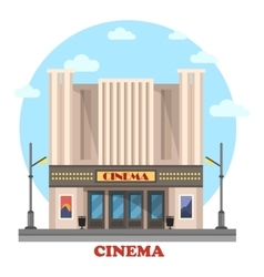 Cinema building for art movies or films vector