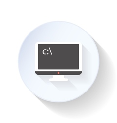 Command line on the screen flat icon vector