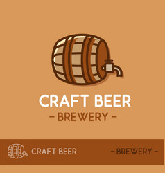 Craft beer logo design in web site layout template vector