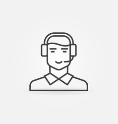 Customer support and service icon vector