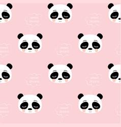 cute sleeping panda pattern vector image