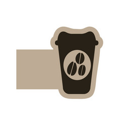 dark contour coffee espresso icon vector image