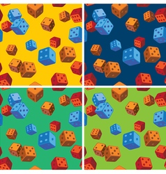 dice patterns vector image