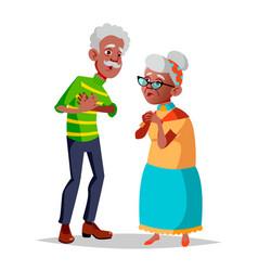 Elderly couple modern grandparents old vector