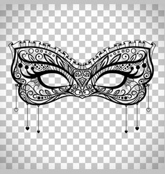 Elegant carnival mask on transparent background vector