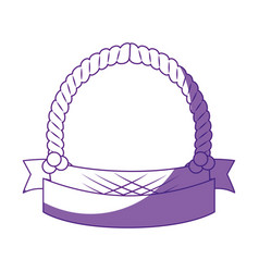 Empty easter basket vector