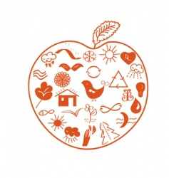 environmental apple vector image