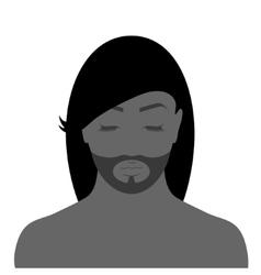 Facial contours vector