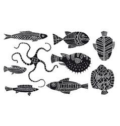 Fantasy fishes vector