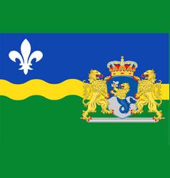 flag of flevoland of netherlands vector image