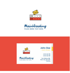flat email logo and visiting card template vector image