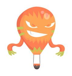 flat hot air-balloon cartoon vector image