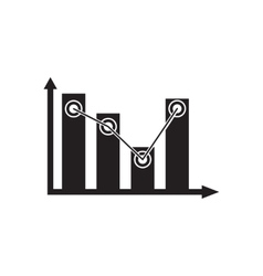 Flat icon in black and white economic infographics vector