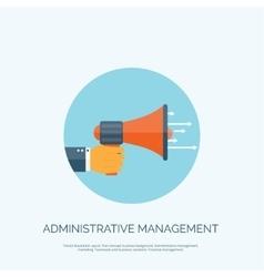 Flat loudspeaker icon Administrative management vector