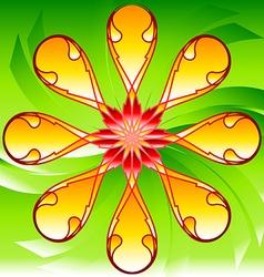 Flora pattern decorative decoration background flo vector image