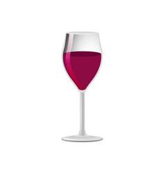 Glass of elite red wine classical alcohol drink vector