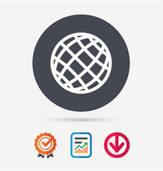 Globe icon world or internet sign vector