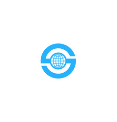 Globe letter s logo icon design vector
