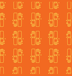 Gloves uniform seamless pattern in linear style vector