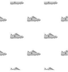 Grey soccer shoe pattern seamless vector