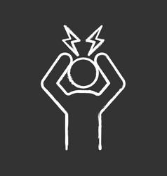 headache chalk icon vector image