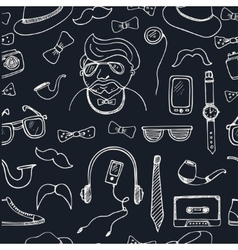 Hipster style seamless pattern Sketches vector