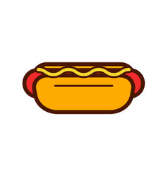 hotdog pizza and food logo icon design vector image