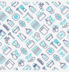 Hygiene seamless pattern vector