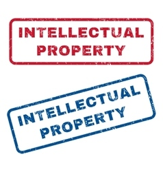 Intellectual Property Rubber Stamps vector