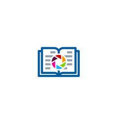 lens book logo icon design vector image
