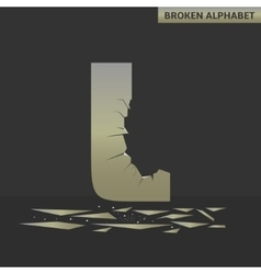 Letter L Broken mirror vector