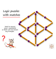 Logical puzzle game with matches for children vector