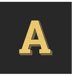 logo letter a gold vintage vector image