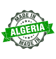 Made in algeria round seal vector