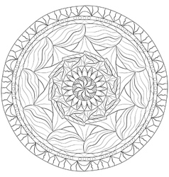 Mandala Zentangle vector image