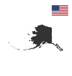 Map of the us state of alaska vector