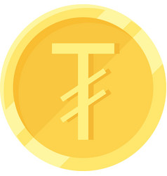 Mongolian t gr g coin official currency vector
