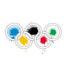 Olympic splashes vector