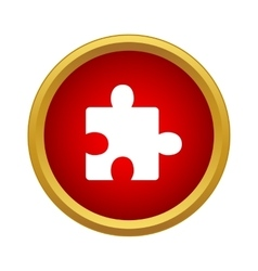 One puzzle icon simple style vector image