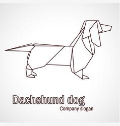 origami dog dachshund vector image