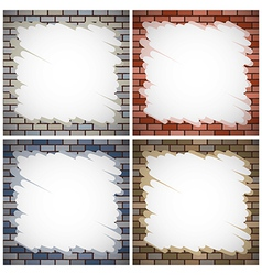 Painting brick walls vector