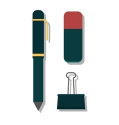 pen on white vector image